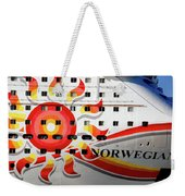 The Norwegian Sun Bow Weekender Tote Bag