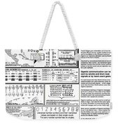 The Numerical Alphabet Of Ogam Weekender Tote Bag