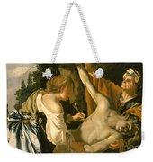 The Nursing Of Saint Sebastian Weekender Tote Bag by Theodore van Baburen
