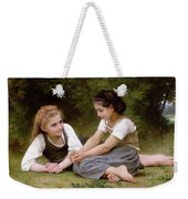 The Nut Gatherers Weekender Tote Bag by William-Adolphe Bouguereau