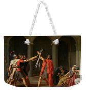 The Oath Of Horatii Weekender Tote Bag by Jacques Louis David
