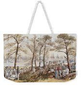 The Officers And Seaman Of The Fleet On Shore At Nargen Weekender Tote Bag