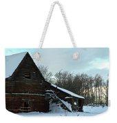 The Old Barn Winter Scene  Weekender Tote Bag