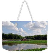 The Old Boat On The Mississippi River Weekender Tote Bag