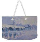 The Old Bridge In Morning Fog Maastricht Weekender Tote Bag
