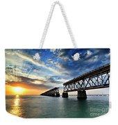 The Old Bridge Sunset - V2 Weekender Tote Bag