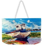 The Old Fishing Boat Weekender Tote Bag