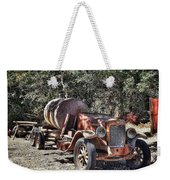 The Old Jalopy In Wine Country, California  Weekender Tote Bag