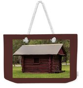 The Old Log Hut Weekender Tote Bag