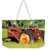 The Old Tractor In The Field Weekender Tote Bag