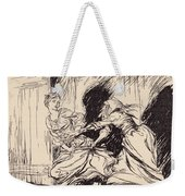 The Old Woman Seized Her By The Gown Weekender Tote Bag