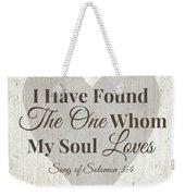 The One Whom My Sould Loves- Art By Linda Woods Weekender Tote Bag