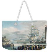 The Opening Of Saint Katharine Docks Weekender Tote Bag