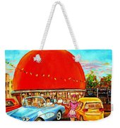 The Orange Julep Montreal Weekender Tote Bag by Carole Spandau