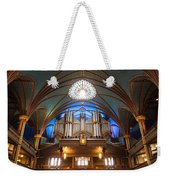 The Organ Inside The Notre Dame In Montreal Weekender Tote Bag