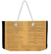 The Original United States Constitution Weekender Tote Bag