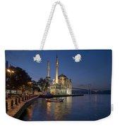 The Ortakoy Mosque And Bosphorus Bridge At Dusk Weekender Tote Bag