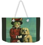 The Owl And The Pussy Cat Weekender Tote Bag