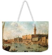 The Palace And The Molo From The Basin Of San Marco Weekender Tote Bag