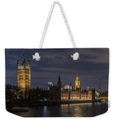 The Palace Of Westminster By Night Weekender Tote Bag