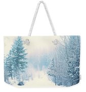 The Pale Kiss Of Winter Weekender Tote Bag