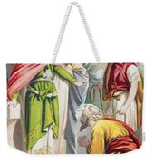 The Parable Of The King And The Weekender Tote Bag