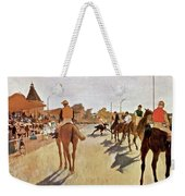 The Parade, Digitally Enhanced Highest Resolution,race Horses In Front Of The Tribune, Edgar Degas Weekender Tote Bag