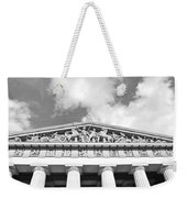 The Parthenon In Nashville Tennessee Black And White 2 Weekender Tote Bag