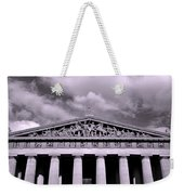The Parthenon In Nashville Tennessee Black And White Weekender Tote Bag