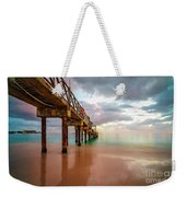 The Pastel Sky And The Jetty Weekender Tote Bag