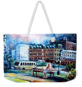 The Peace Tower In Ottawa Weekender Tote Bag