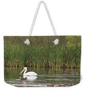 The Pelican And The Ducklings Weekender Tote Bag