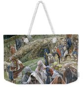 The People Beholding The Things That Were Done Smote Their Breasts Weekender Tote Bag