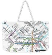 The Philadelphia Pubway Map Weekender Tote Bag