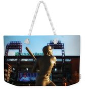 The Phillies - Mike Schmidt Weekender Tote Bag by Bill Cannon