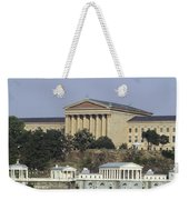 The Philly Art Museum And Waterworks Weekender Tote Bag by Bill Cannon