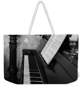 The Piano - Black And White Weekender Tote Bag