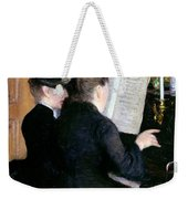 The Piano Lesson Weekender Tote Bag by Gustave Caillebotte