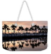 Reflecting Palms At The Pier 22 Weekender Tote Bag