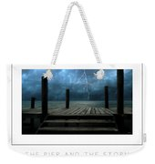 The Pier And The Storm Poster Weekender Tote Bag