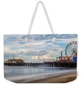 The Pier On A Cloudy Day Weekender Tote Bag