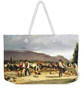 The Pig Market Weekender Tote Bag by Pierre Edmond Alexandre Hedouin