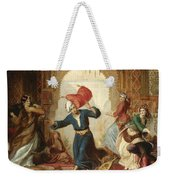 The Pillow Fight Weekender Tote Bag