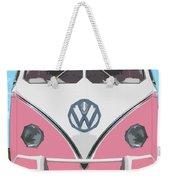The Pink Love Bus Weekender Tote Bag