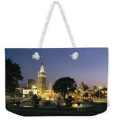 The Plaza In Kansas City, Mo, At Night Weekender Tote Bag