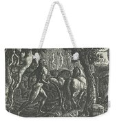 The Ploughman Christian Ploughing The Last Furrow Of Life Weekender Tote Bag