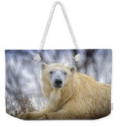 The Polar Bear Stare Weekender Tote Bag