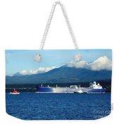 The Polar Resolution Oil Tanker Port Angeles Harbor Wa Weekender Tote Bag