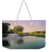 The Pond Fountain Weekender Tote Bag