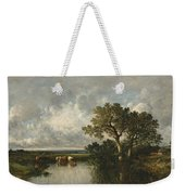 The Pond With Oaks Weekender Tote Bag